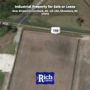 Land For Sale or Lease - Zoned Heavy Industrial Near Airport in Currituck, NC