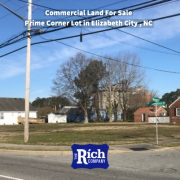 Commercial Land For Sale - Prime Corner Lot in Elizabeth City , NC