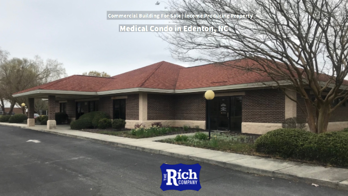 Commercial Building For Sale | Income Producing Property - Medical Condo | Edenton, NC