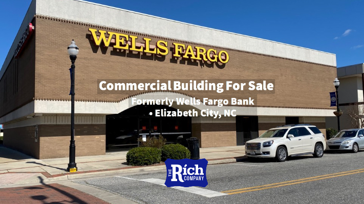 Commercial Building For Sale • Formerly Wells Fargo Bank • Elizabeth City, NC