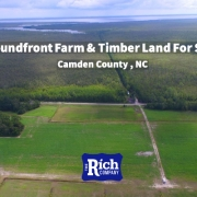 Soundfront Farm Timber Land For Sale - Camden County - Hunting , Farm, Timber, Waterfront