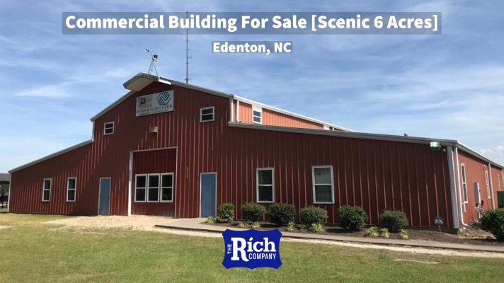 Commercial Building For Sale [Scenic 6 Acres] Edenton, NC | Real Estate
