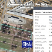 Commercial Land For Sale - 7.94 Acres Zoned Industrial Downtown Edenton, NC