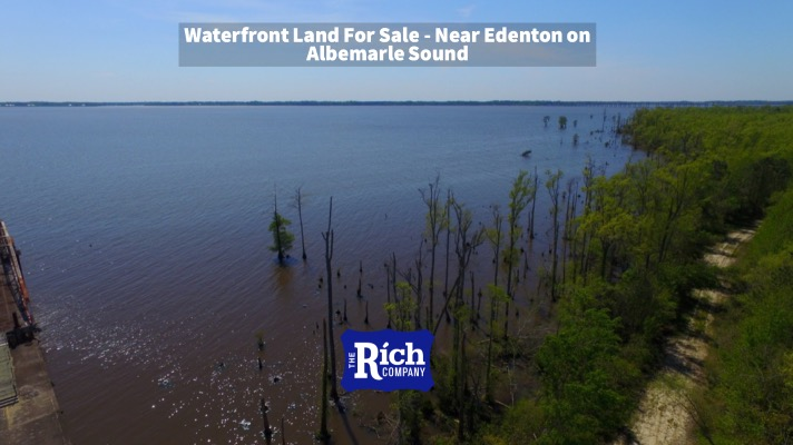 Waterfront Land For Sale - Near Edenton on Albemarle Sound   Chowan County, NC